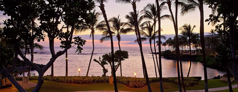 Hotel Hilton Waikoloa Village, Hawai - Lugar al aire libre frente a la playa
