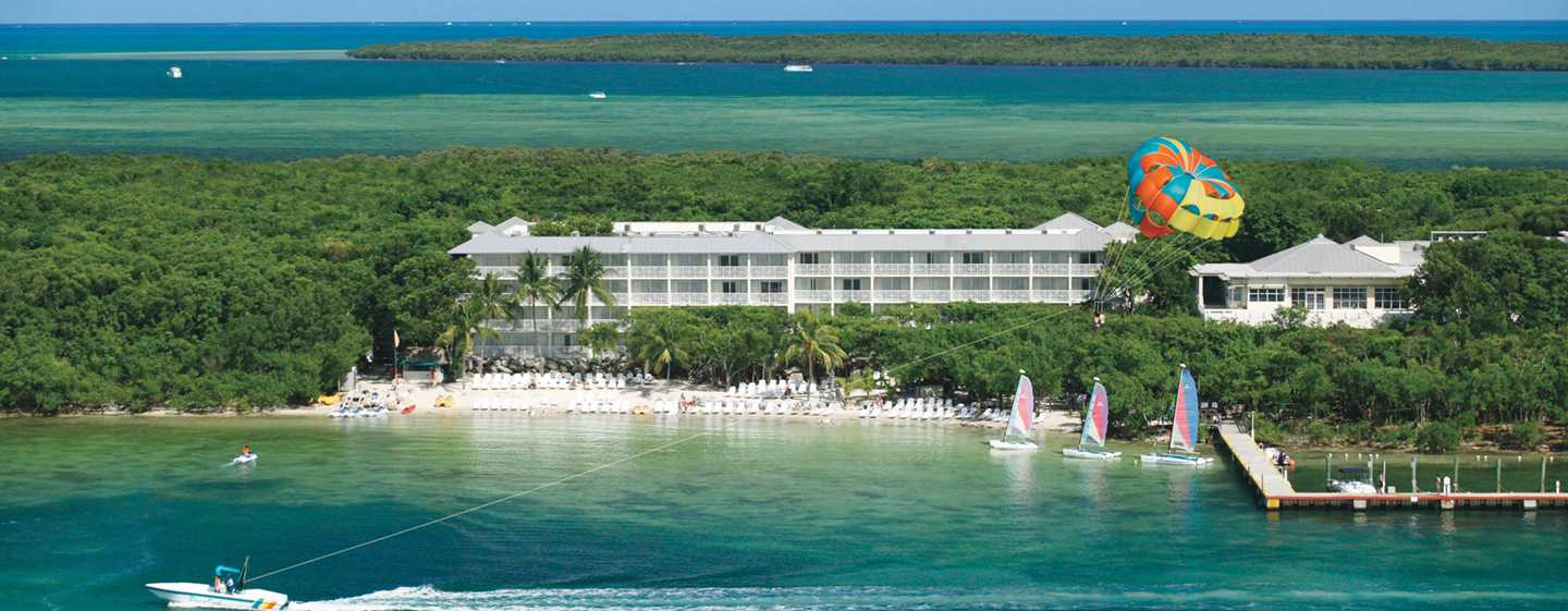 Hilton Key Largo Resort hotel, Florida. Exterior do hotel