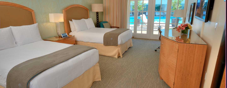 The Beverly Hilton Hotel, USA – Cabana Doppelzimmer am Swimmingpool
