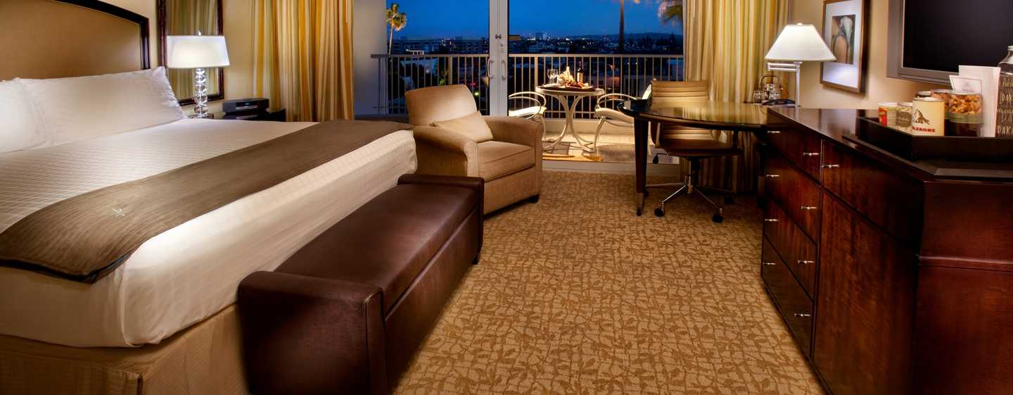The Beverly Hilton, USA – Zimmer mit King-Size-Bett