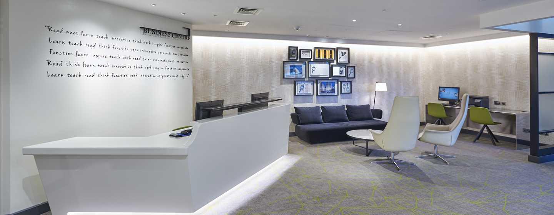 Hilton London Heathrow Airport, Großbritannien - Empfang für Tagungs -und Veranstaltungsräume sowie des Business Centers