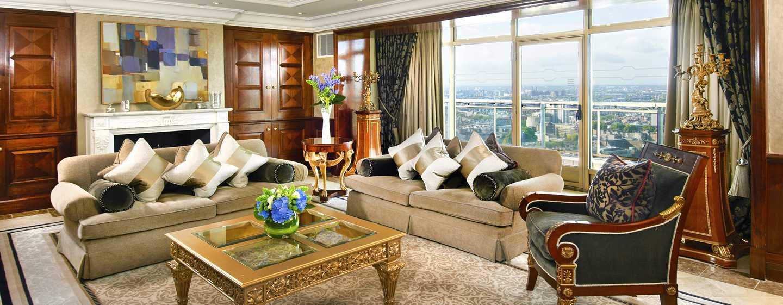 London Hilton on Park Lane Hotel, Großbritannien – Wohnbereich der Präsidenten Suite