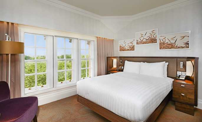 Hilton London Hyde Park, Reino Unido - Quarto King Deluxe com vista