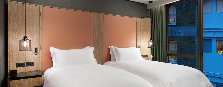 Hilton London Bankside GB–Zweibettzimmer– Betten