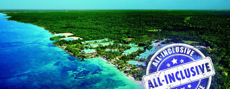 Hilton La Romana, An All-Inclusive Resort, República Dominicana - Vista aérea de la fachada del hotel
