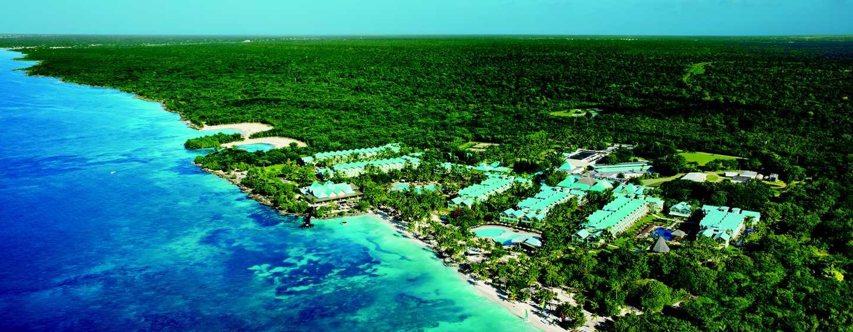 Hilton La Romana, an All-inclusive Family Resort, República Dominicana - Vista aérea de la fachada del hotel
