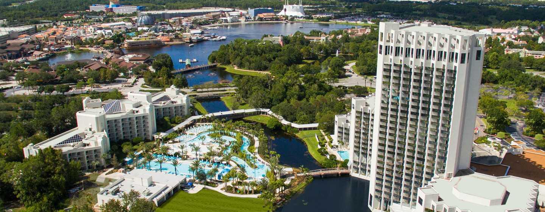 Hotel Hilton Orlando Buena Vista Palace Disney Springs Area, Florida, EE. UU. - Fachada del hotel Palace