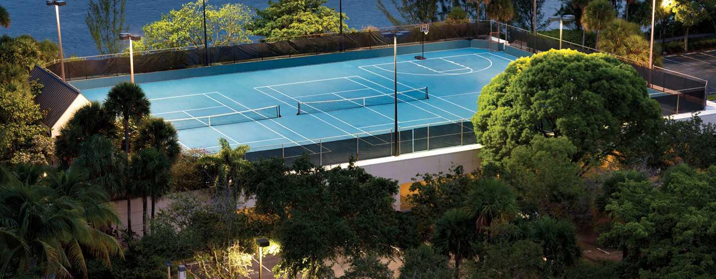 Hotel Hilton Miami Airport Blue Lagoon, Florida - Cancha de tenis