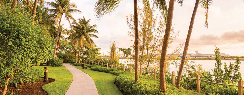 Hotel Hilton Miami Airport Blue Lagoon, Florida - Sendero para trotar