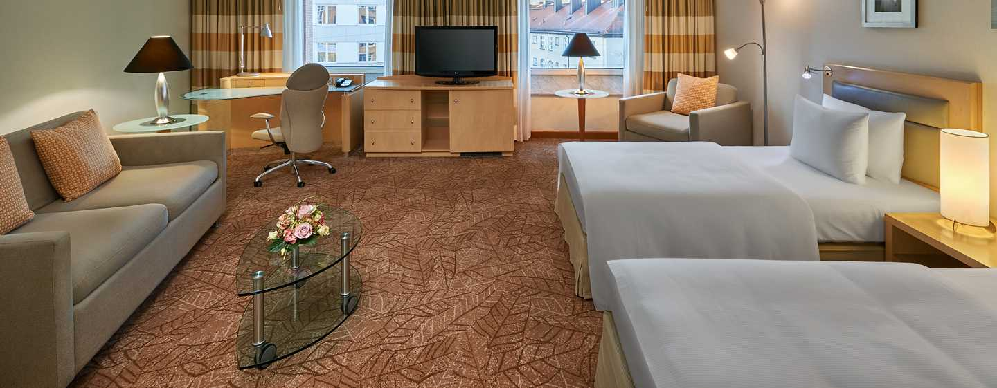 Twin Junior Suite im Hilton Munich City