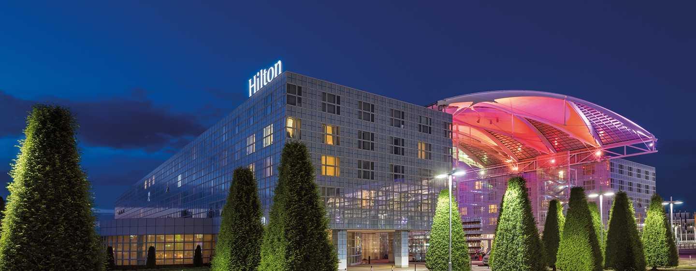 Hôtel Hilton Munich Airport, Allemagne - Hôtel Hilton Munich Airport, de nuit