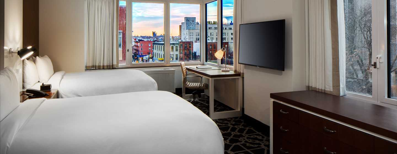 Hilton Brooklyn New York, USA– Deluxe Zimmer mit Queensize-Bett