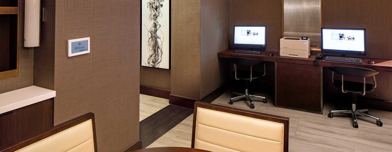 Hilton Brooklyn New York, USA– Businesscenter der Executive Lounge