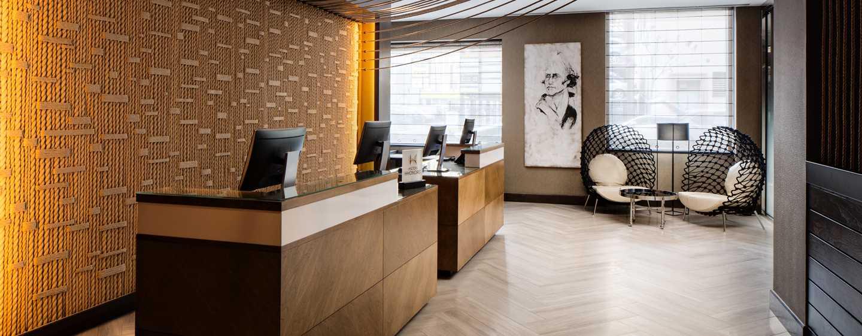 Hilton Brooklyn New York, USA– Empfang