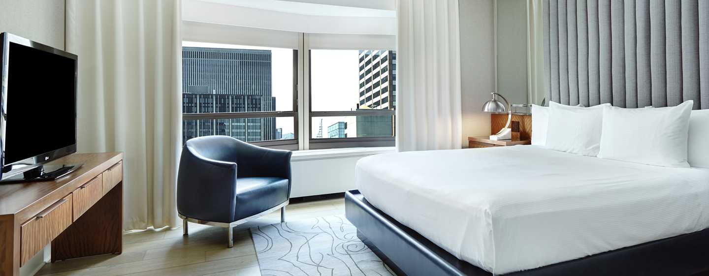 Slaapkamer Hotel Chique : Hilton New York Midtown hotel, VS ...