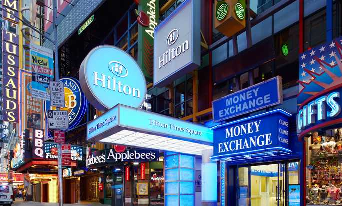 Hilton Times Square Hotel, New York, USA - Hotellets fasad