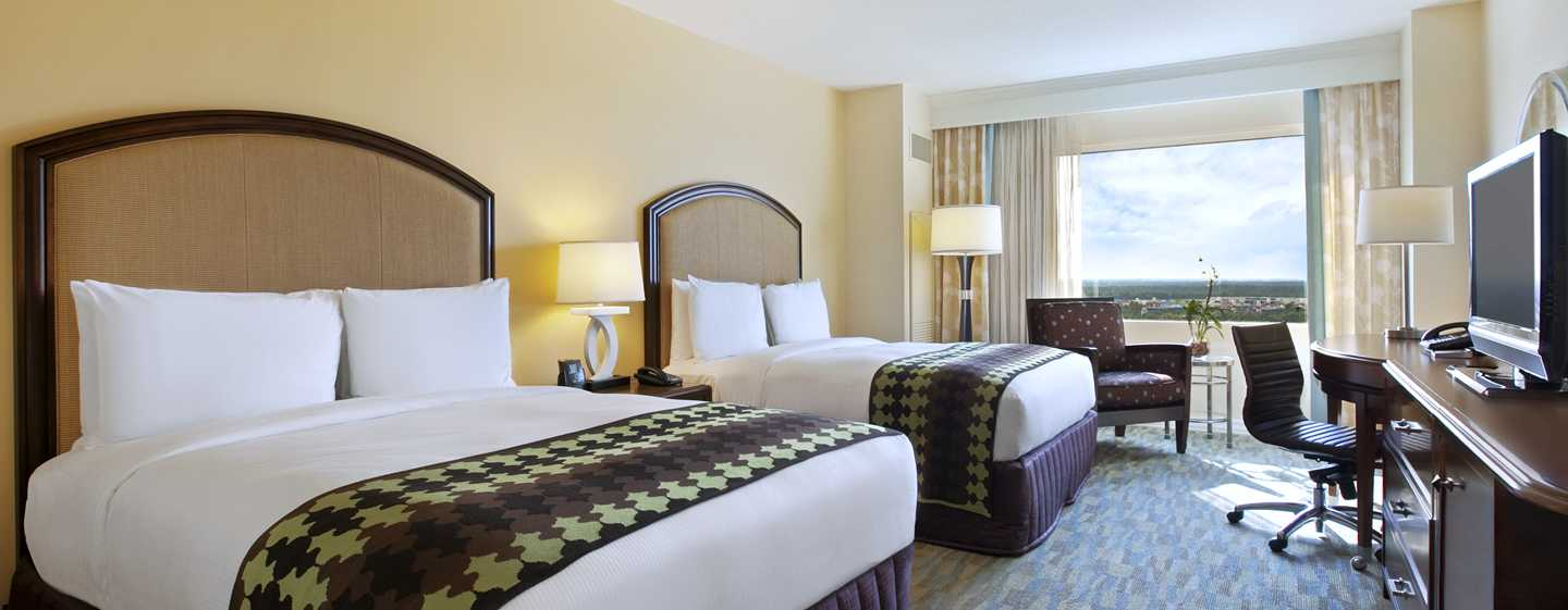 Hotel Hilton Orlando Bonnet Creek, Flórida, EUA – Quarto Double Queen