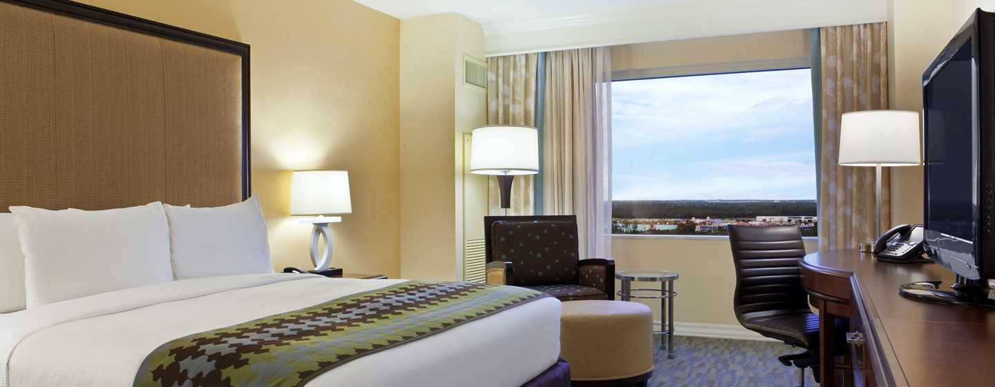 Hilton Orlando Bonnet Creek, Florida, USA – Zimmer mit King-Size-Bett