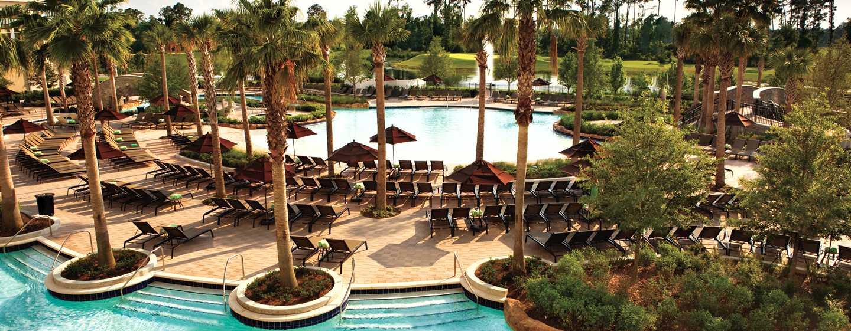 Hôtel Hilton Orlando Bonnet Creek, Floride, États-Unis - Zone de la piscine