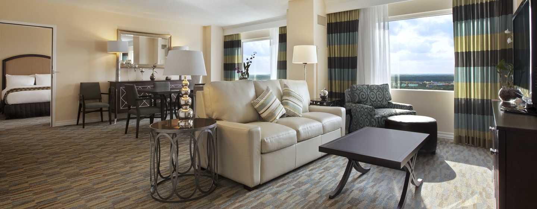 Hôtel Hilton Orlando Bonnet Creek, Floride, États-Unis - Suite Hilton avec très grand lit
