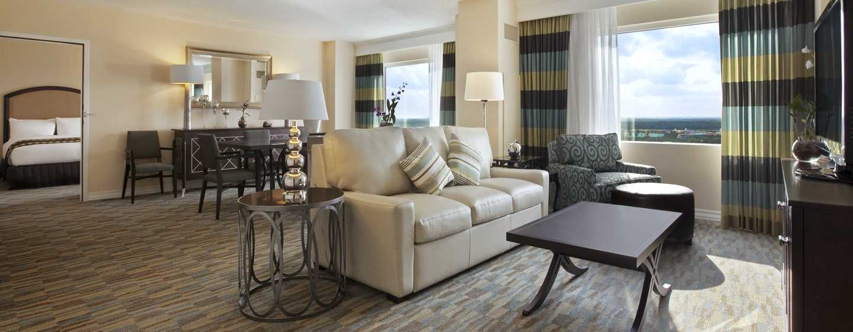 Hilton Bonnet Creek Orlando, FL, USA – Hilton-svit med king size-säng