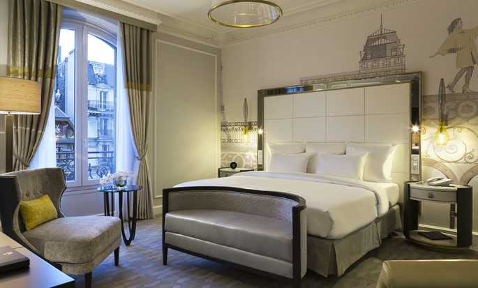 Hilton Paris Opera hotel, Frankrijk - Executive kamer met kingsize bed