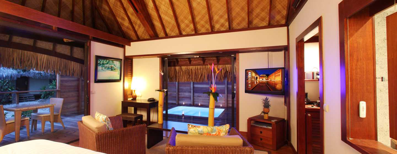 H tels papetoai hilton moorea lagoon resort spa for Garden pool suite hilton moorea