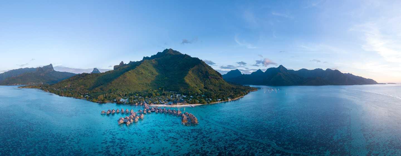 Hilton Moorea Lagoon Resort & Spa, Polynésie française - Vue panoramique de l'hôtel
