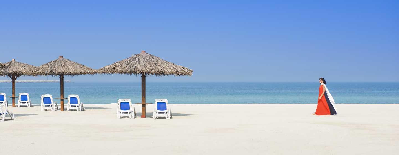 Hilton Al Hamra Beach & Golf Resort -hotelli, Ras Al Khaimah, Yhdistyneet arabiemiirikunnat – ranta