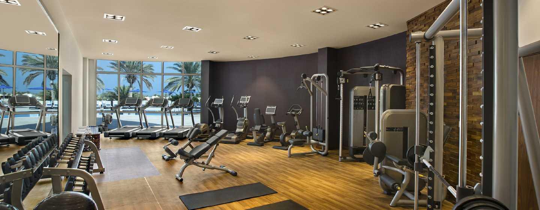 Hilton Al Hamra Beach & Golf Resort -hotelli, Ras Al Khaimah, Yhdistyneet arabiemiirikunnat – kuntosali
