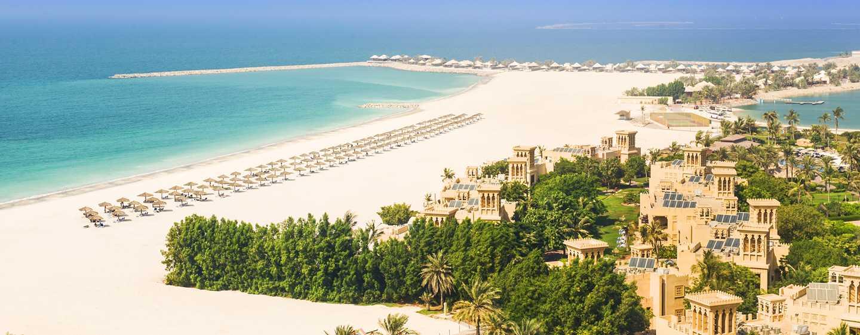 Hilton Al Hamra Beach & Golf Resort -hotelli, Ras Al Khaimah, Yhdistyneet arabiemiirikunnat – rannan esittely