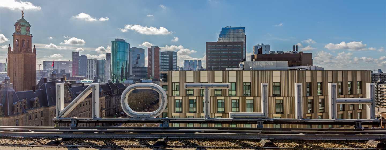 Hilton Rotterdam hotel, Nederland - Uitzicht over Rotterdam