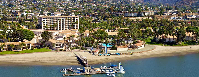 Hôtel Hilton San Diego Resort & Spa, États-Unis - Vue aérienne de l'hôtel
