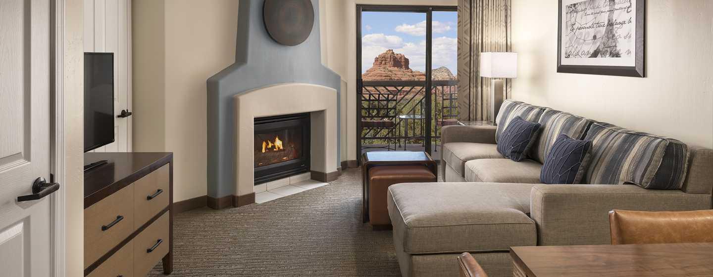 Hotel Hilton Sedona Resort at Bell Rock, Arizona - Sala de estar de la suite