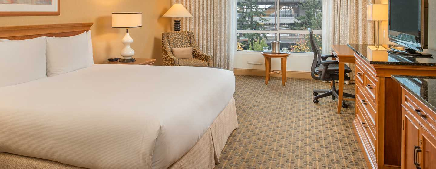Hilton Seattle Airport Hotel & Conference Center, USA – Zimmer mit King-Size-Bett