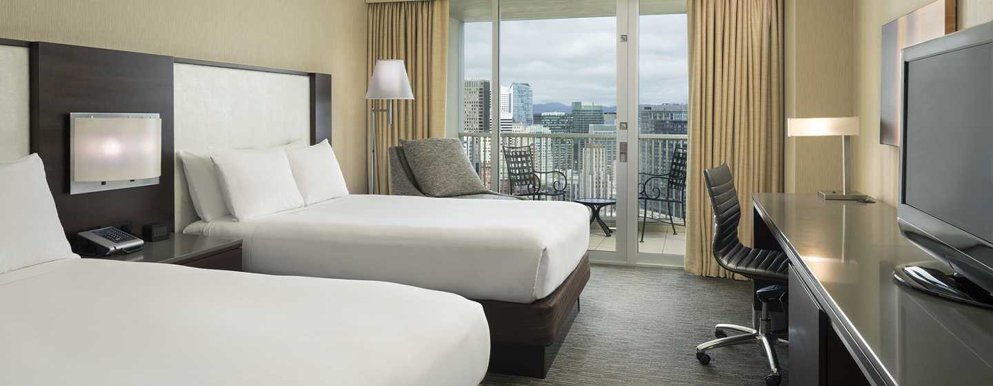 Hilton San Francisco Union Square, Californien, USA – Værelse med dobbeltsenge