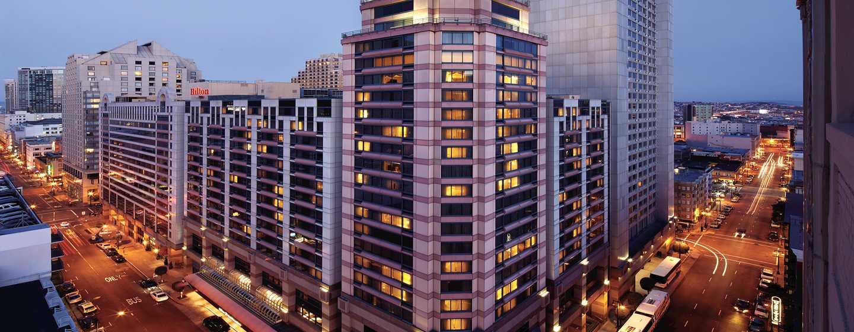 โรงแรม Hilton San Francisco Union Square แคลิฟอร์เนีย สหรัฐอเมริกา - ภายนอกโรงแรม