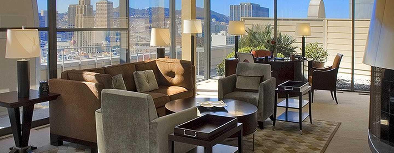 Hilton San Francisco Union Square hotel, Californië, VS - Solarium Imperial suite