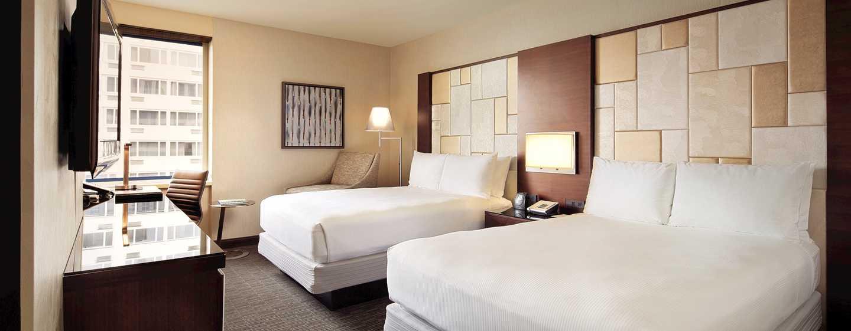 Hilton San Francisco Union Square hotel, Californië, VS - Twee tweepersoonsbedden