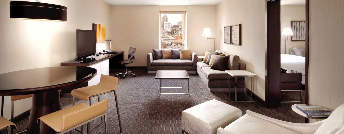 Hotel Hilton San Francisco Union Square, California, EE. UU. - Suite con sala de estar