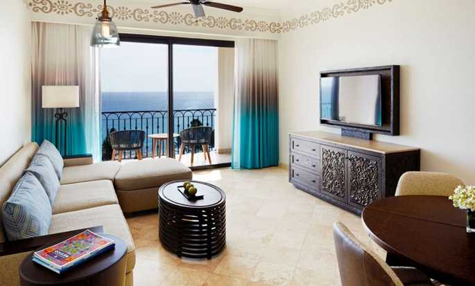 Hilton Los Cabos Beach & Golf Resort, México - Sala de estar de la suite Governor