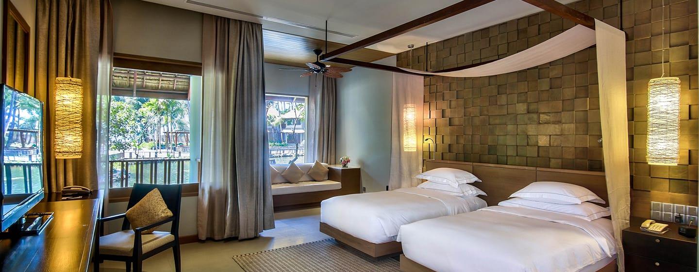 โรงแรม Hilton Ngapali Resort & Spa เมียนมาร์ - ห้องดีลักซ์ เตียงคู่ พร้อมวิวทะเลสาบและระเบียง
