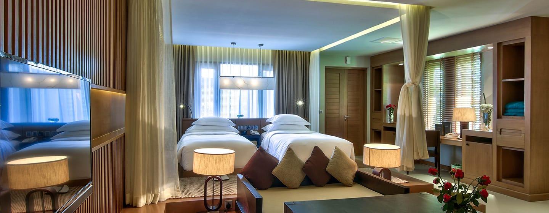 Hilton Ngapali Resort & Spa Hotel, Myanmar– Villa mit zwei Einzelbetten, Meerblick und eigenem Swimmingpool
