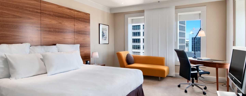 โรงแรม Hilton Sydney ออสเตรเลีย - ห้องพักเอ็กเซ็กคิวทีฟเตียงคิงไซส์