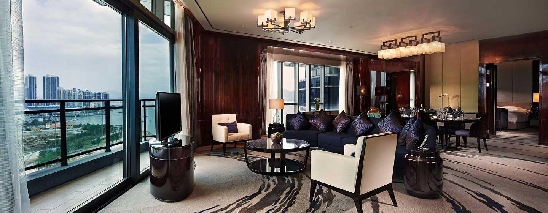 Hilton Shenzhen Shekou Nanhai, China– Wohnzimmer der Deluxe Suite