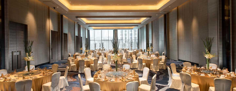 Hilton Shenzhen Shekou Nanhai, China – China Merchants Hall, Bankettbestuhlung
