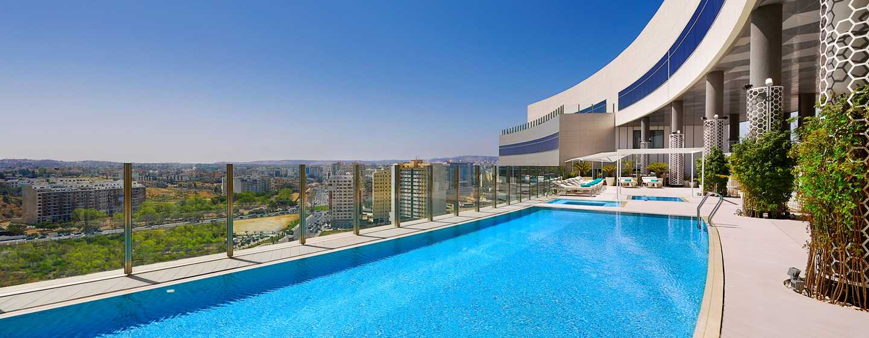 Hôtel Hilton Tanger City Center Hotel & Residences, Maroc - Piscine sur le toit