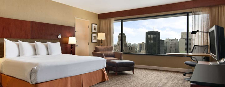 Hotel Hilton Toronto, Canadá – Quarto Executive, cama king-size