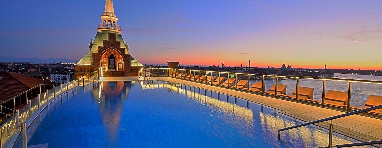 Hotel Hilton Molino Stucky Venice, Itália – Piscina na cobertura
