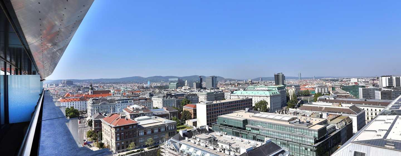 Hôtel Hilton Vienna, Vienne, Autriche - Suite junior - Vue panoramique sur Vienne